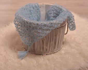 Newborn photo props/ layer / blue props / crochet props