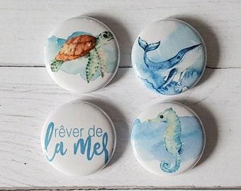 """Badge 1"""" - Rêver de la mer"""