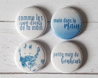 """Badge 1"""" - Comme les 5 doigts de la main"""