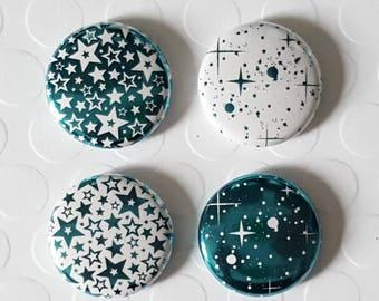 """Badge 1 """"- Star metallic teal (Design by KareenBH)"""
