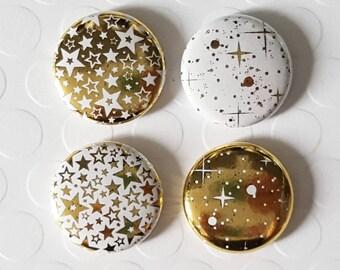 """Badge 1 """"- Star metallic gold (Design by KareenBH)"""