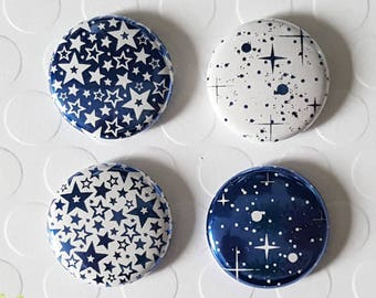 """Badge 1 """"- Star metallic royal blue (Design by KareenBH)"""