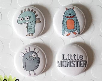 "Badge 1"" - Little Monster"