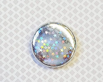 "Badge 1 ""- Silver holographic star"