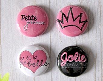 "Badge 1"" - Petite Princesse"