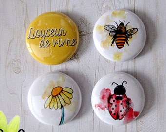 "Badge 1"" - Abeille"