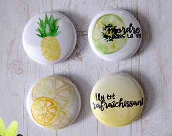 "Badge 1"" - Fruits"