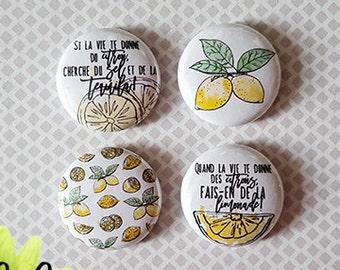 "Badge 1"" - Citron"