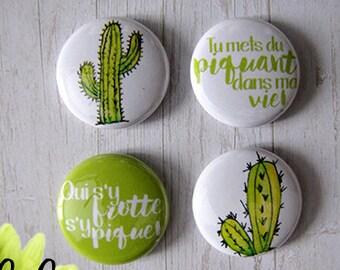 """Badge 1"""" - Cactus"""