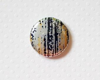 "Badge 1"" - Ligné métallique Noir/Or"