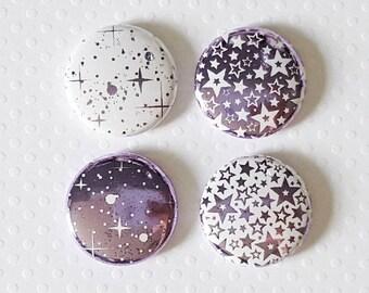 "Badge 1 ""- Star metallic lilac (Design by KareenBH)"