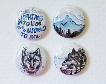 "Badge 1"" - Nothing to lose (Design par KareenBH)"