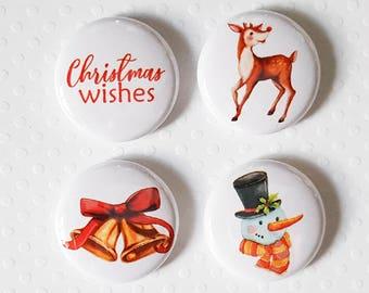 "Badge 1"" - Christmas Wishes"