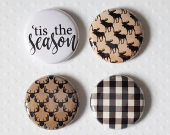 "Button - 1 ""' Tis the Season"
