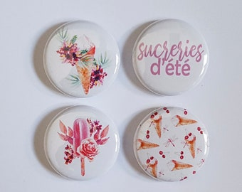 "Badge 1"" - Sucreries d'été"