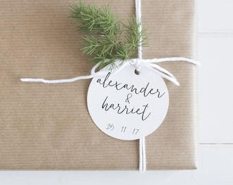 Wedding Favour Tags Modern & Minimal - Printable Design