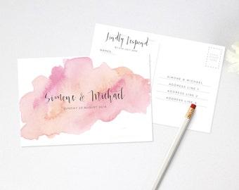Wedding RSVP Postcard - Printable