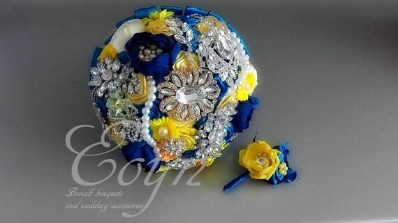 Brosche Bouquet Royal Blau Voller Preis Und Video Etsy