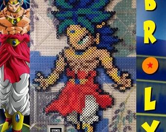 Android 18 in Gogeta Uniform Dragon Ball Z Anime 8bit Pixel Art Kandi Perler Figure