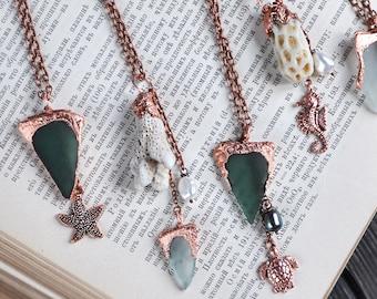 Silver choker necklace with mermaid melusine pendant torque