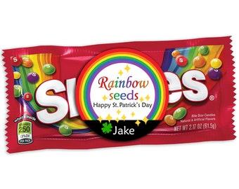 St. Patrick's Day Rainbow Seeds Sticker, Rainbow Seeds Tag, Happy St Patricks Day, Saint Patty's Day Party, St. Pattys Preschool Favor