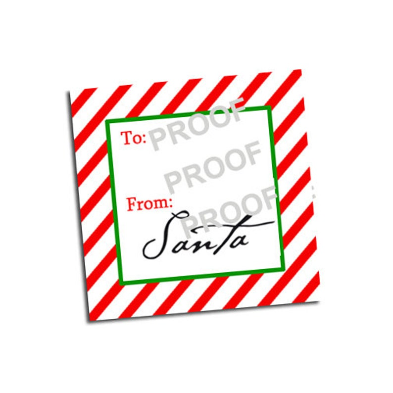 picture about Santa Labels Printable named Versus Santa Labels / Printable Xmas Present Tag Signed via Santa Claus