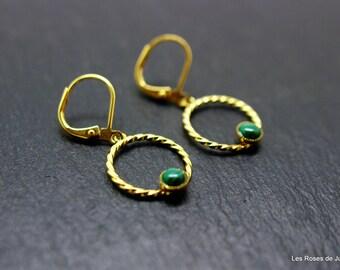 Earrings hoops, gold circles earrings