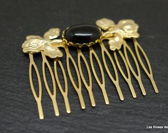 comb, comb, Pearl, art deco, gilt gold, wedding