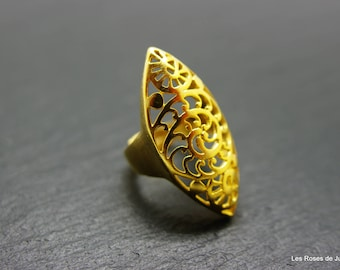 adjustable gold ring, ring