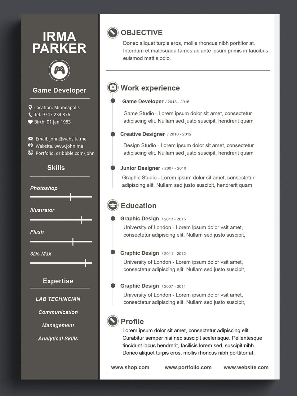 Plantilla de currículum vitae personalizado plantilla de CV | Etsy
