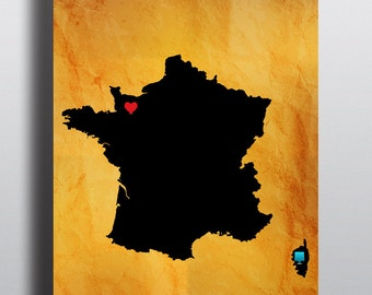 France map, high resolutions PNG, ai, eps, psd