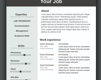 Sjabloon voor aangepaste CV CV Template Photoshop