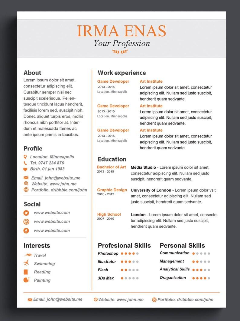 Word Resume Template CV