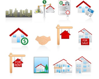 Real estate clip art ,36 high resolution png real estate, Instant Download, real estate clip art house