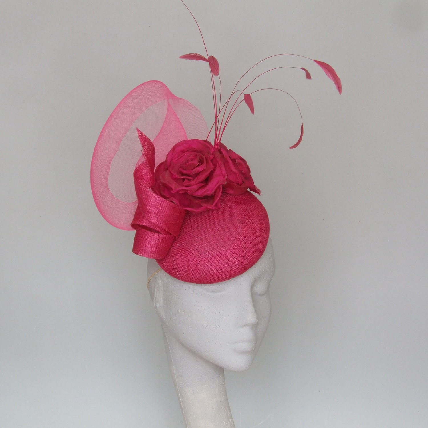 07fb6fe377666 Pink Fascinator Kentucky Derby Hat Royal Ascot Hat. Mother