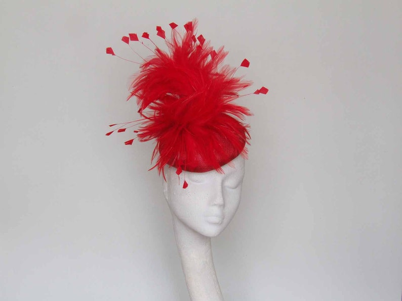 f49ace5b Red Fascinator Royal Ascot hat Mother of the Bride hat | Etsy