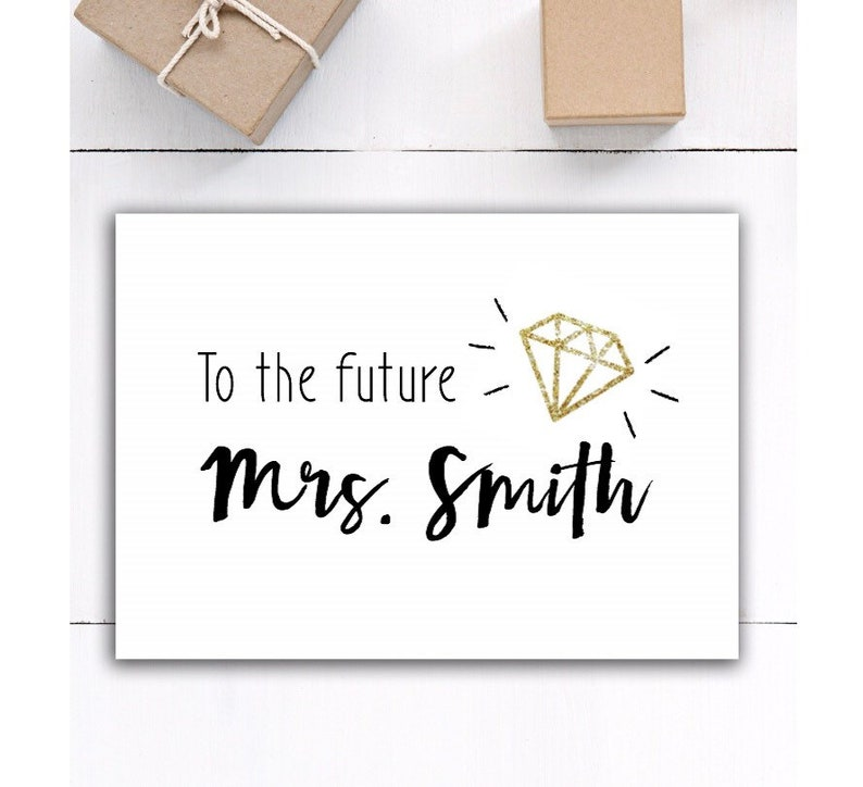 Personalized bridal shower engagement Card Bridal Wedding Card Card for Bride Bridal Shower gift Card personalized Engagement Card gift