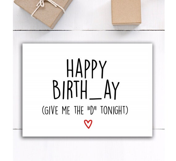 Funny Sex Happy Birthday Card For Boyfriend
