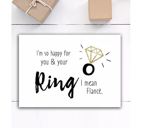 bridal shower Pinterest funny engagement card engagement card newlywed gift