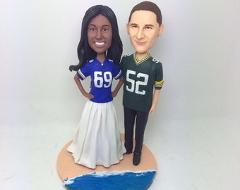 Gifts Decorations German Dude Personalized Bobble Head Clay Figurines Based on Customers Photos Using As Wedding or Birthday Cake Topper