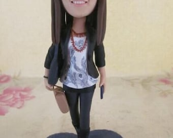 Girlfriend Gift Daughter Gift Wife Gift Mother Gift Custom Bobble Head Clay Figurine Based on Customers Photos Mother's Day gift Mom Gift