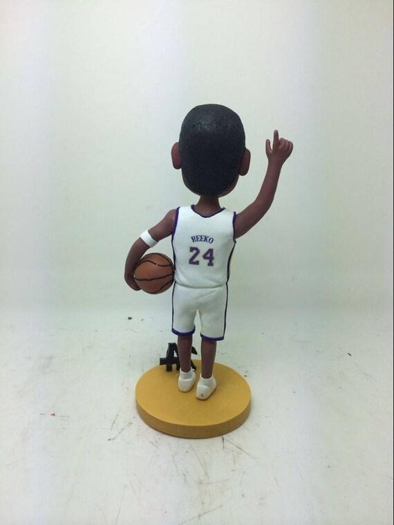 Basketball Personalized Boyfriend Gift Basketball Bobble Head Basketball Clay Figurine Basketball Birthday Cake Topper Basketball Gift