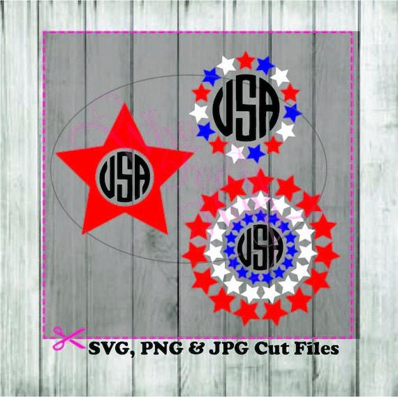 Starmonogam Frames Red White Blue Svg Diy Cut Svg Jpg Etsy