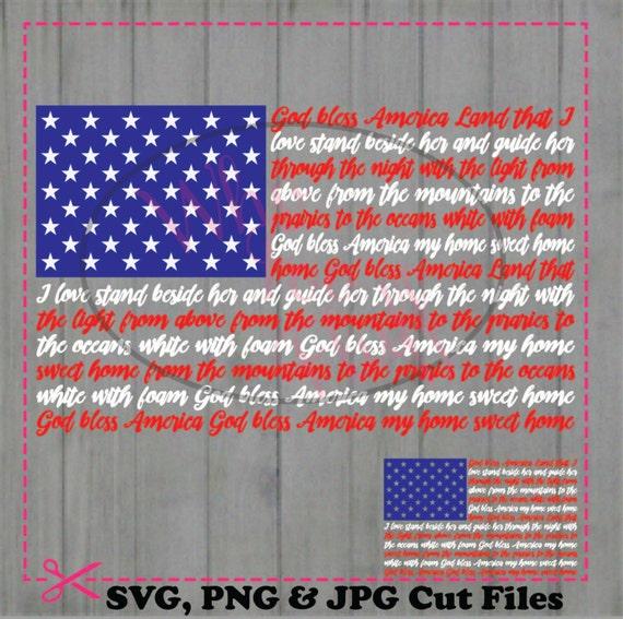 God Bless America American Flag Svg Diy Cut Svg Jpg Vector Png Etsy