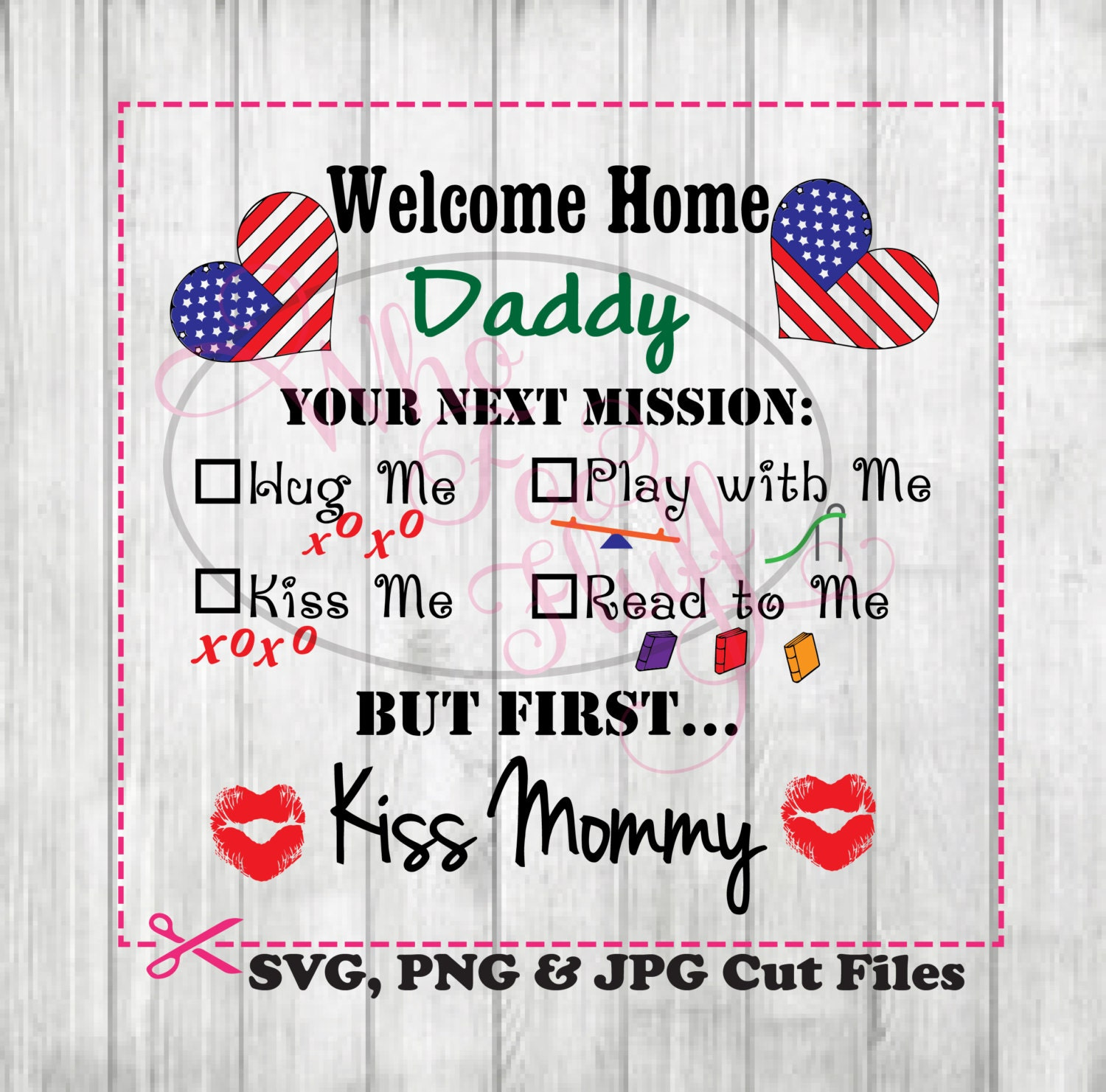 Military Welcome Home Daddy Clipart deployment SVG DIY | Etsy