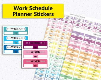 work schedule sticker printables work schedule boxes etsy