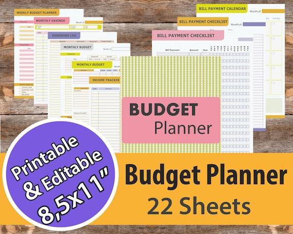 budget planner bill organize financial planner bill etsy