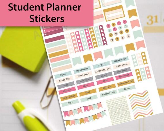 College Stickers Student Sticker Study Planner Stickers Etsy