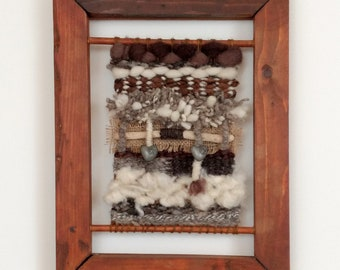 Woven Wall Hanging - Tapestry - Textile Art - Fibre Art - Framed Wallhanging - Handwoven - Decorative Tapestry Weaving - Woven Wall Art