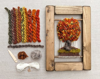 Weaving Kit, Craft Kit, Learn to Weave a Wall Hanging